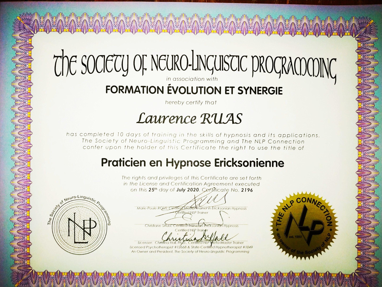 dipliome praticien hypnose
